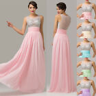 SEE-THROUGH Shiny Beads Bridesmaid Evening Party Pageant Prom Banquet Long Dress
