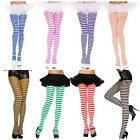 40 DENIER OPAQUE STRIPE STRIPED PRINT TIGHTS FANCY DRESS ONE SIZE & XLARGE NEW