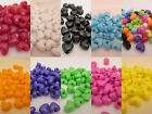 50 - 10mm x 12mm Opaque Heart Pony Beads Made In USA - Color choice