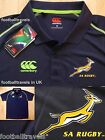 S M L XXL 3XL SOUTH AFRICA SPRINGBOKS PLAYERS CANTERBURY RUGBY POLO SHIRT
