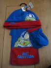 TOY STORY BUZZ LIGHTYEAR FLEECE HAT SCARF AND MITTENS SET 18 M 2 4 Y BLUE RED