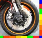 Motorcycle Rim Tape Reflective Wheel Stickers Decals Vinyl Set Kit 17 inch 17""