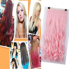 "Long 17-30"" 3/4 Full Head Clip In HAIR EXTENSIONS EXTENTIONS Party Colors hg23"