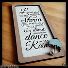 Shabby Chic Wooden Sign Life isn't about ...storm to pass.. dancing in the rain!