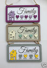 Shabby Chic Personalized Family Wooden Sign Plaque - Family makes a House a Home