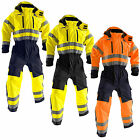 Blaklader Hi Vis Overalls with Kneepad Pockets and Wind Flap Chin Guard