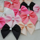 20/40/200PC Ribbon Bows Flower the Rhinestone Appliques Sewing Craft Lots A227