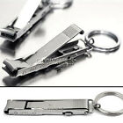 ULTRA SLIM STAINLESS STEEL NAIL CLIPPERS KEYCHAIN SMALL EDC POCKET UTILITY TOOL