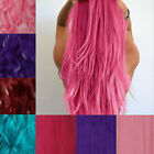 NEW fashion cosplay half full head clip in hair extensions pink purple blue red