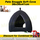 New Kitten Snuggle Pad Pet Bed Warm Cat Cave Igloo Brown Black Soft Xmas Gift