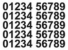 Vinyl Number Stickers 35mm, 0 -9, 5 Sets Self Adhesive Multiple Colours FREE P&P