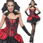 Ladies Seductive Vampire Costume - Womens Sexy Halloween Fancy Dress Outfit