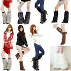 Women Shaggy Furry Faux Fur Rave Christmas Fluffies Leg Warmers Boot Covers tS7