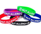 Nut Allergy Silicone Wristband Bracelet MULTI-PACK - 5 Bands