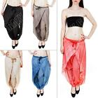 Womens Italian Lagenlook Double Layering Ali Baba Harem Trousers Pants Plus Size