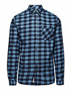 JACK & JONES MOUNTAIN PLAID BLUE SHIRT  NOW 24.99