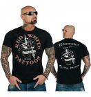 49 Hells Angels Red n'White Tattoos Support81 Black T-Shirt Front and Backprint