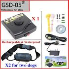 2 Dogs Underground Waterproof Rechargeable Electric Pet Dog Fence System collar