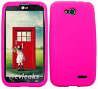 HOT PINK Silicone Case Skin Gel Cover for LG Optimus L90