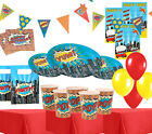 Ultimate  Superhero Boys Birthday Party Kits Plates Party Bags Balloons!
