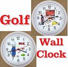 GOLF WALL CLOCK Golfing Golfer Duffer CLUBS 18th Hole Tee Putter Driver Ball NEW