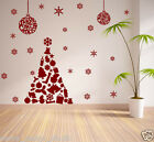 CHRISTMAS WALL STICKERS / WINDOW STICKERS / XMAS TREE STICKER / BAUBLES / S62