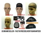 Unisex Stock or Mesh Wig Cap Hat Nylon Stretch Elastic Snood Black Nude Beige