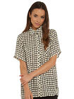 Glamorous Risky Business Check Shirt in White & Black NEW