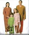 Butterick B5433 Family Matching Pajamas Gown Tops Bottoms Pants Adult Kid Sizes