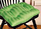 CHAIR PAD/CUSHION SATIN STRIPE APPLE GREEN