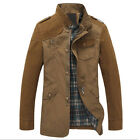 Autumn Middle-aged Men Long Sleeve Stand Collar Jacket Slim Fit Windbreaker Coat