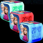 Frozen Elsa & Anna Colour Changing LED Digital Alarm Clock Kids Gift - UK Stock