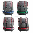 """FoxHunter 55"""" 4.5FT Junior Trampoline With Enclosure Safety Net Kids Activity"""