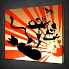 BANKSY SURFER CANVAS WALL ART PICTURES PRINTS VARIETY OF SIZES FREE UK P&P