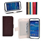 Magnetic Snap Bubble Leather Cell Phone Case Card Holder for Samsung Galaxy S4