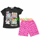 Monster High Girl summer 2pcs Pyjamas Pajamas Set SZ 6,7,8,10