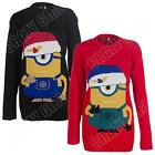 Stuart Minion Despicable Me Kids Boys Girls Novelty Knitted Christmas Jumper Top