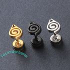 Set of TWO Korean Anime Fashion Naruto Symbol Studs Earring Fine Stainless Steel
