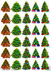 CHRISTMAS TREES - 30 x Edible Decorations Cup Cake Toppers CHRISTMAS Party