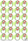 FATHER CHRISTMAS  24  x Edible Decorations Cup Cake Toppers - PARTY XMAS
