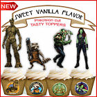 GUARDIANS OF THE GALAXY  PARTY EDIBLE wafer 15 Cupcake Toppers PRE-CUT cup cake
