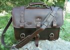 NEW RawHide Leather 2.5mm CEO ADVENTURER Briefcase Backpack Laptop Messenger Bag