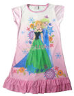 Disney Frozen Elsa & Anna Children Kids Girls Dress Pajama Nightgown 3-10 Pink