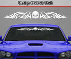 Design #105-02 SKULL Tribal Windshield Decal Window Sticker Vinyl Graphic Car