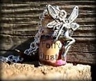 Fairy Dust Bottle Necklace In Blue Pink or Purple