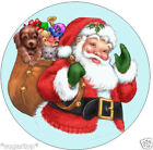 "FATHER CHRISTMAS & TOYS  24 x 2""or Large 7.5"" Edible Cake Topper Rice Paper"