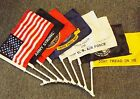 "AIR FORCE, NAVY, USCG, CAR FLAGS NEW DOUBLE SIDED 12X18"" NEW"