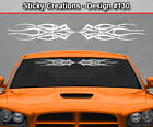 Design #130 Tribal Flame Windshield Decal Back Window Sticker Vinyl Graphic Car