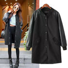Hot Sell ! Women's Long Sleeve Warm Long Baseball Uniform Trench Coat  JACKET
