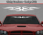Design #132 Tribal Swirl Windshield Decal Window Sticker Vinyl Graphic Banner